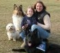 Kimberly, Daughter Sarah, and fur-kids; K-9 Nadja, Dawson and Gracie