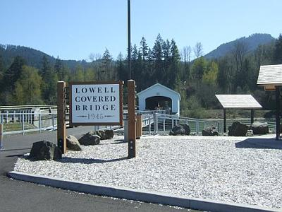 Lowell Covered Bridge Lane County Oregon