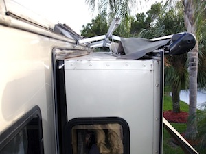 Damaged RV Awning