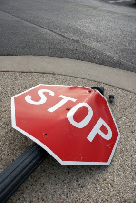 Over Stop Sign