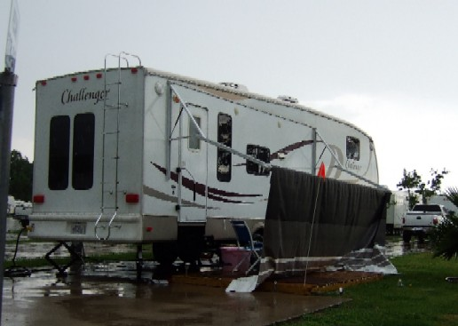 Use Tension Tie Downs for RV Awnings