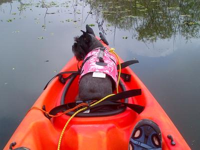 She loves to kayak