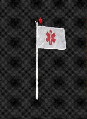 Emergency Medical Flag w/Light