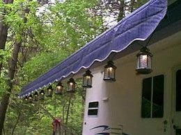 Camping patio lights camper patio lights attach to your rv awning with a variety of hangers from many companies such as camco rv lantern snaps or party light holders aloadofball Gallery